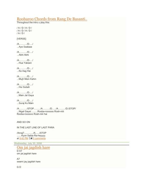 The Cribs Chords by Guitar Song Chords