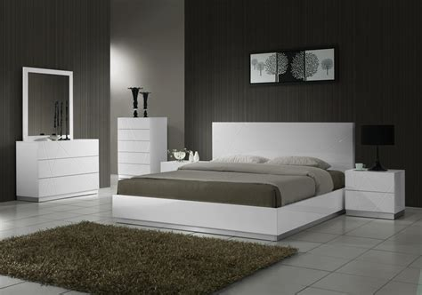 white modern bedroom set platform bed contemporary bed modern bed new york ny