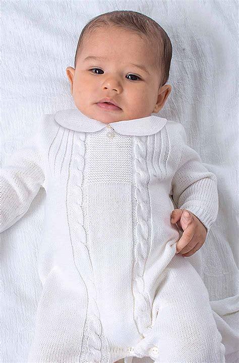white knit romper baby boy sweater jacket