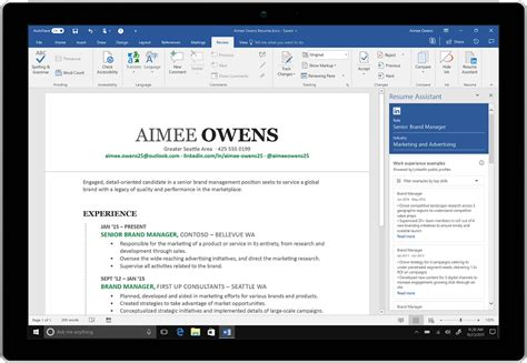 microsoft integrates linkedin with word to help you create
