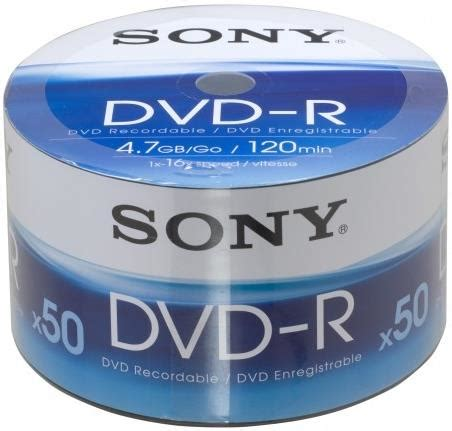 Dvd R Sony Bulk Pack 50 Pcs sony dvd r 4 7gb 120min 16x shrink pack 50pcs οπτικοι