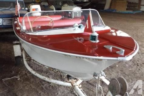 vintage runabout boat parts 1962 crestliner mustang 14 runabout for sale in afton