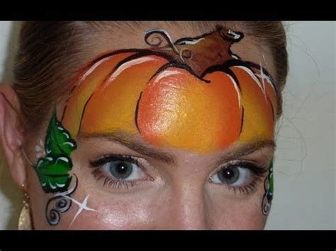 pumpkin mask face painting tutorial....would possibly be