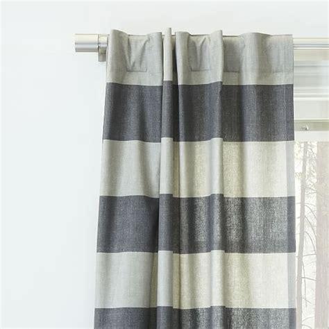 bold striped curtains cotton canvas bold stripe curtain slate west elm