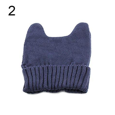 Win Win Crochet Cat Shape Hat new fashion warm cat ear shape knitted hat elastic beanie cap great ebay