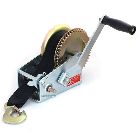 boat winch strap with two hooks 2000lb manual boat marine trailer hand powered winch 8m