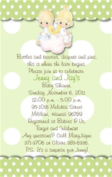 Precious Moments Baby Shower Invitations by Precious Moments Baby Shower Invitations Green And