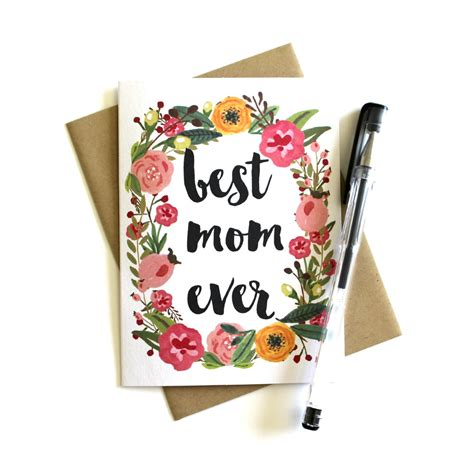 best mothers day cards mother s day card best mom ever floral