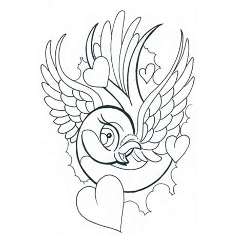 heart and bird tattoo designs bird with birds design flash pictures