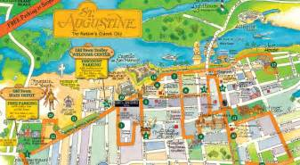 st augustine florida attractions map town trolley around st augustine flblogtrip just