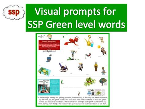 ssp phonics green level reading practice s a t p i n visual prompts for ssp green level words