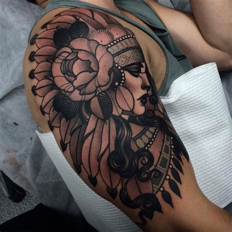 headdress tattoo designs headdress sleeve best design ideas