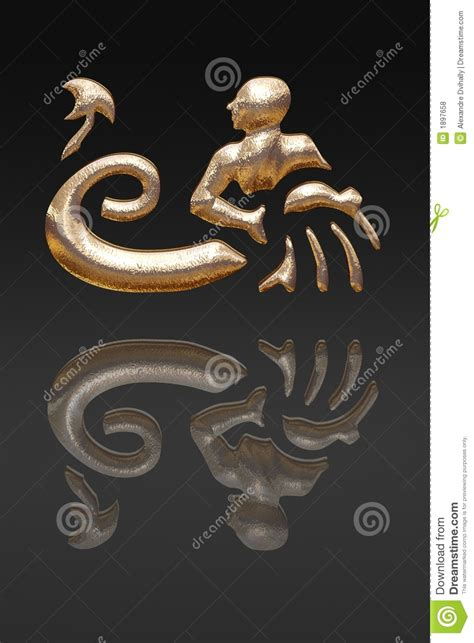 horoscope zodiac gold metal royalty free stock photos