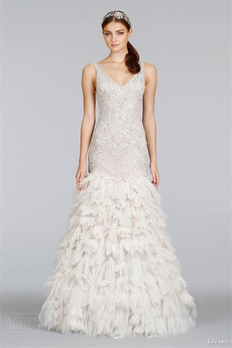 beaded deco wedding dress lazaro 2014 wedding dresses wedding inspirasi