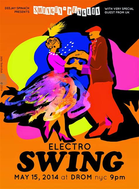 electro swing nyc electro swing poster for quot swingin penguin quot event in nyc