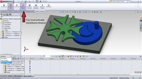 tutorial solidworks motion tutorial how to animate a model with contact analysis