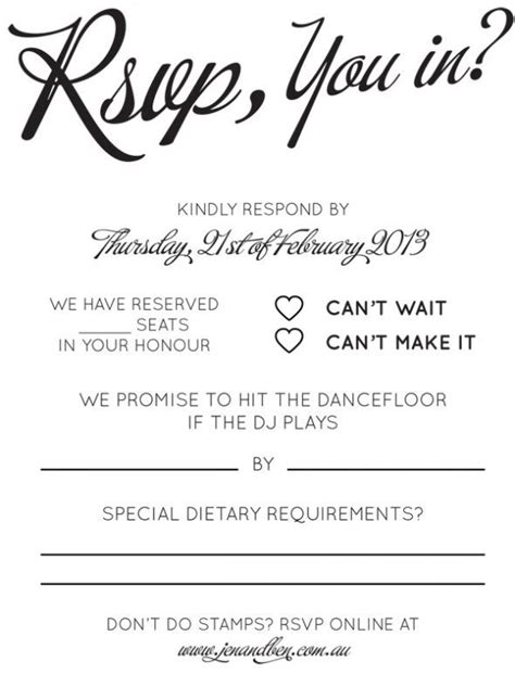 Rsvp Song Request Wording Wedding Reception Wedding Invitations Wedding Invitation Dietary Requirements Email Template