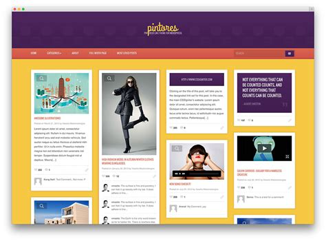 pinterest layout wordpress 20 best pinterest style wordpress themes 2017 colorlib