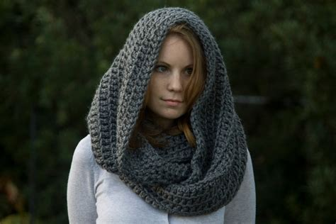 crochet pattern hooded infinity scarf crochet pattern oversized hooded infinity scarf cowl