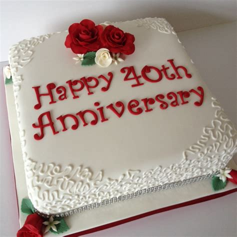 Wedding Anniversary Ideas Per Year by Ruby Wedding Anniversary Cake
