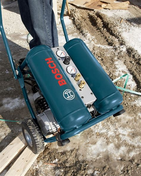 bosch cet4 20w 4 gallon 2 hp wheeled angled tank air compressor ca tools home