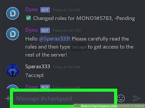 discord tag how to tag people in a discord chat on android 9 steps