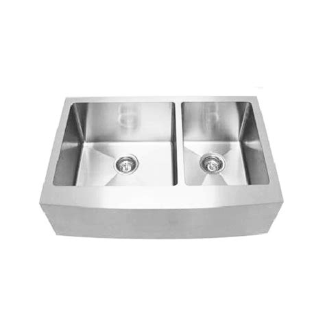 colonial stainless steel belfast  sink curved front