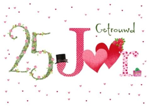 25 jaar getrouwd zilver felicitatie kaarten huwelijksverjaardag hallmark