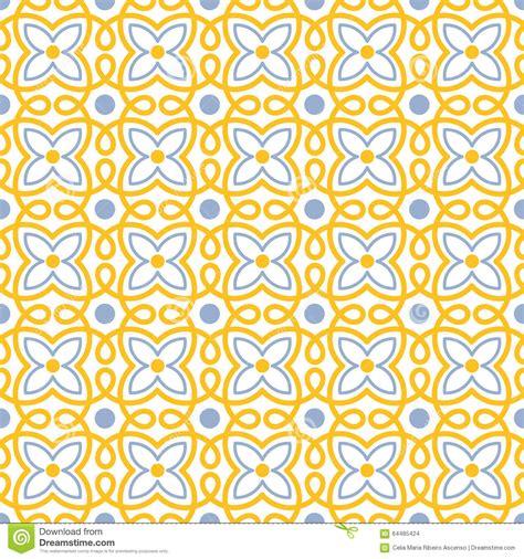 flower pattern tiles flower swirl tile seamless pattern stock illustration