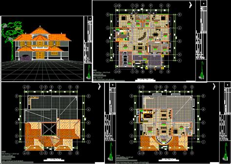 house plan in autocad drawing bibliocad