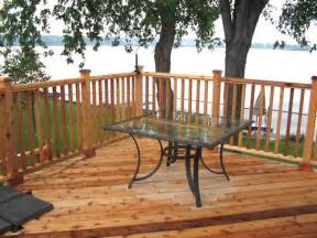 deck railing pictures and ideas