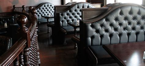 leather banquette seating store charles grey portfolio