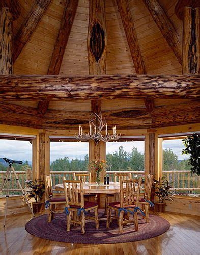 a montana log home dining room cabins and barns