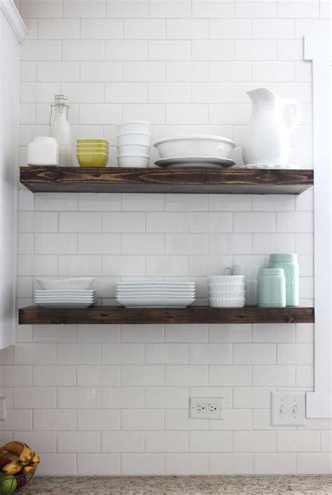 kitchen floating shelves colors and craft