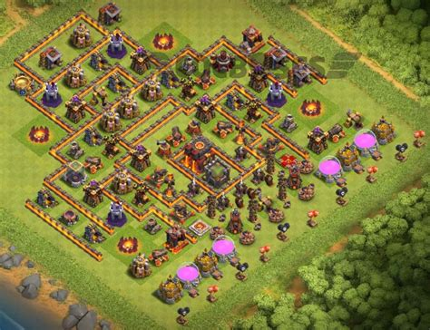 th10 trophy base town hall 10 trophy pushwar base anti golem anti builder hall 4 base layout with clock tower cocbases