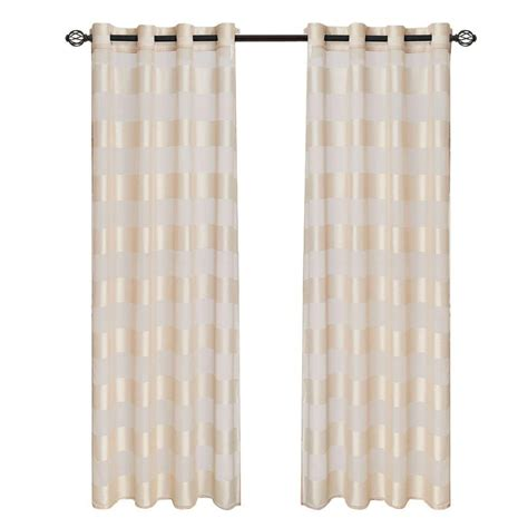 curtains 95 length lavish home cream sofia grommet curtain panel 95 in