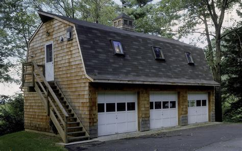 gambrel garages 24 x 36 gambrel 3 bay garage with an efficiency
