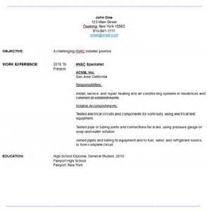 Cover Letter For Hvac Sle Hvac Resume Resume Maker Resume Software