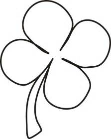four leaf clover coloring pages picture of four leaf clover coloring home