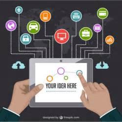 internet marketing vector template vector free download