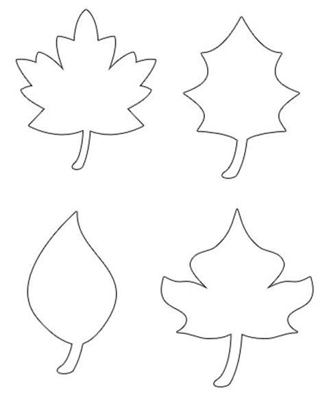 leaf pattern for preschool шаблоны и картинки листьев разных деревьев