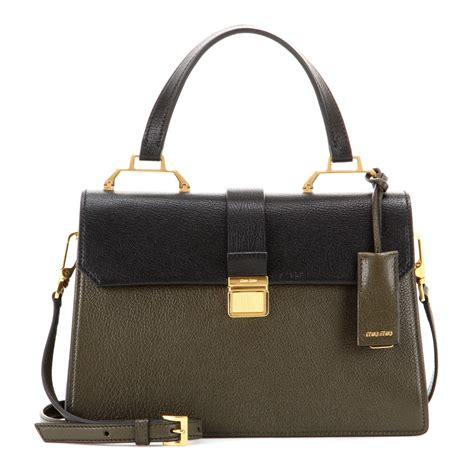Miu Miu Shoulder Bag by Miu Miu Leather Shoulder Bag In Black Lyst