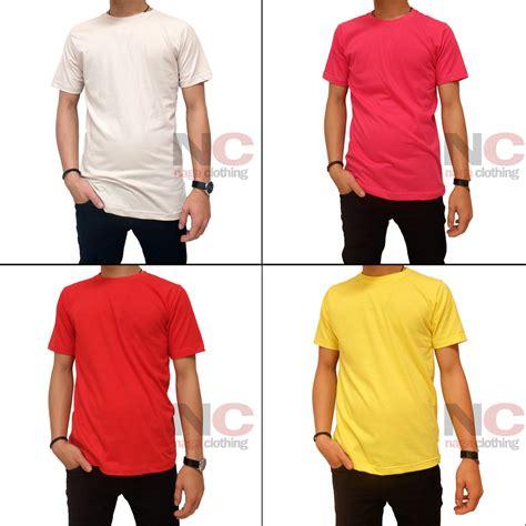 Baju Kemeja Katun Pria Hr 075 naga clothing grosir baju kaos polos solid 100 katun cotton combed 30s reaktif best seller
