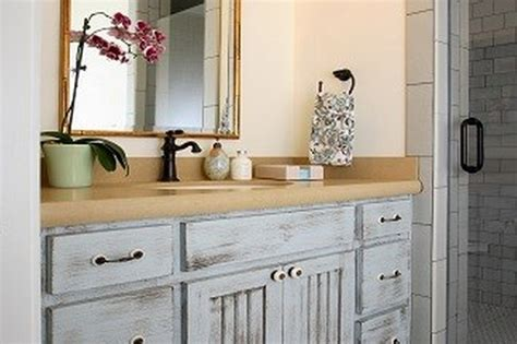 how to distress bathroom cabinets distressed wood bathroom cabinets bathroom cabinets