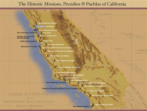 california missions map the california missions timeline california missions resource center