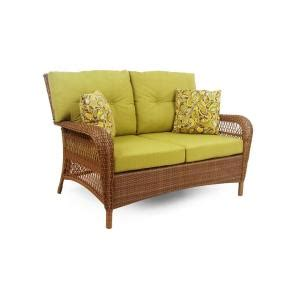 martha stewart charlottetown loveseat martha stewart living charlottetown brown all weather