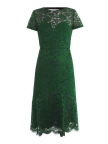 burberry prorsum lace openback dress in green emerald lyst