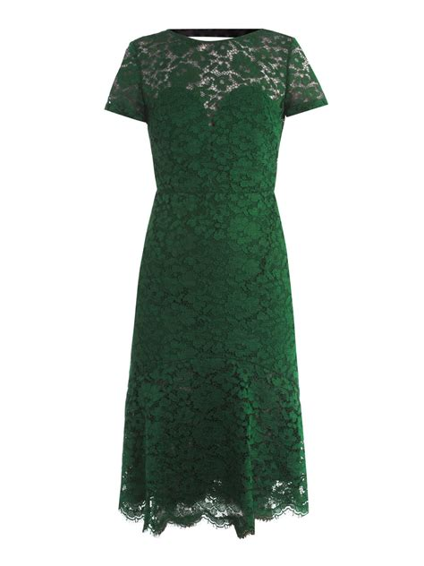 Lace Dress Green burberry prorsum lace openback dress in green emerald lyst