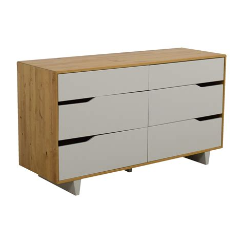 ikea white and wood dresser 46 off ikea ikea askvoll white and wood six drawer