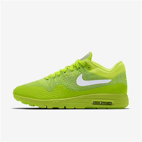 Sneakers Nike Air Max 1 Flyknit Volt nike air max 1 ultra flyknit volt electric green white womens shoes sale cheap
